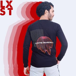 Lost in the world highlights the materialist obsession of the mortal life. VC provides its customers a very well put design along with super fine quality fabric. Available online now. Inbox for details.